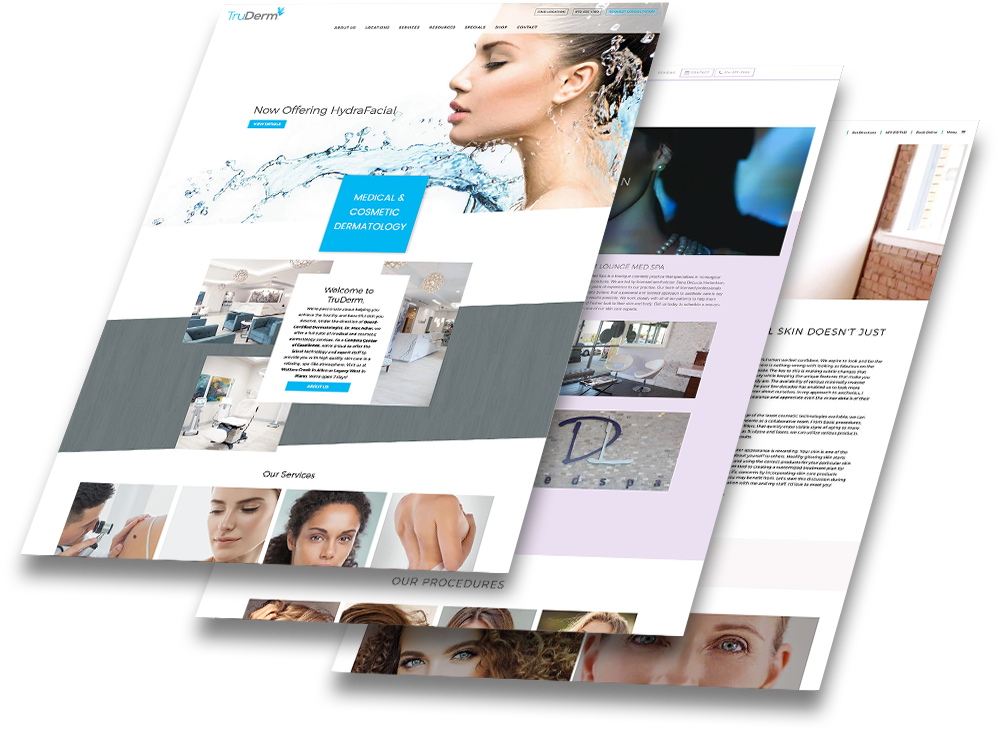 Dermatology websites powered by DoctorLogic